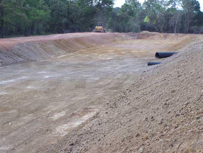 Retention Dentention Pond Construction In Magnolia Tx